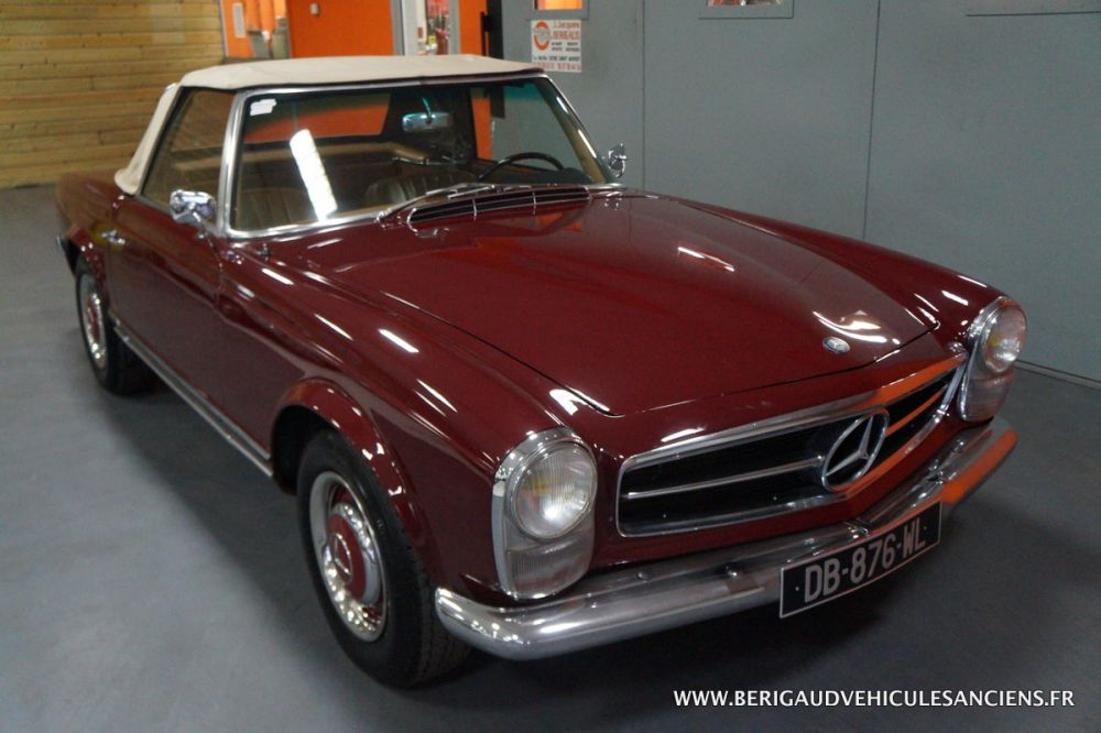 Mercedes 230 SL Bordeaux 1964
